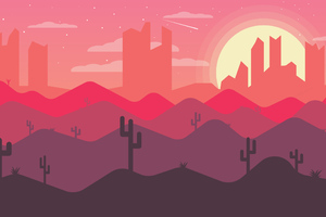 Sunset Mountains Art