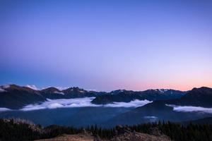Sunset On Blue Mountain