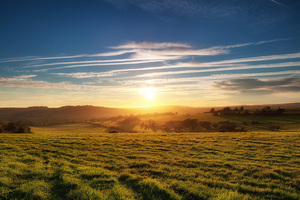 Sunset Over Findon Wallpaper