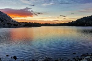 Sunset Over North Gap Lake 5k Wallpaper