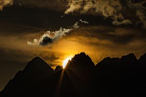 Sunset Over The Swiss Alps 5k Wallpaper