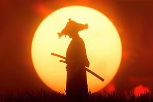 Sunset Ronin Ghost Of Tsushima Wallpaper