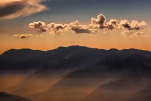 Sunset Weather Sky Clouds Landscape View 5k Wallpaper