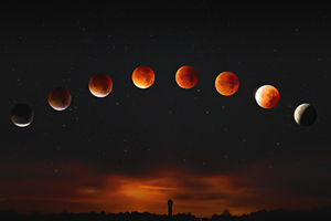 Super Blood Moon 5k Wallpaper