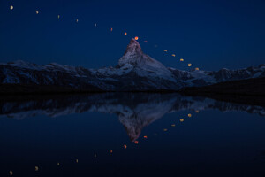 Super Moon Matterhorn 5k Wallpaper