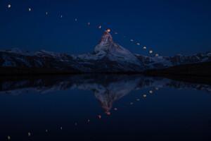 Super Moon Matterhorn 5k Wallpaper