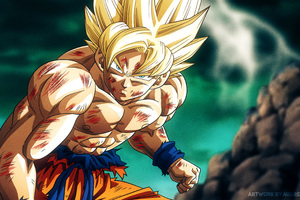 Super Saiyan Son Goku Dragon Ball Z 4k