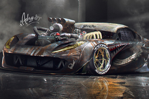 Superfast Ferrari Into Rat Style