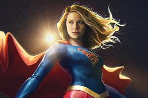 Supergirl Central City Superhero Wallpaper