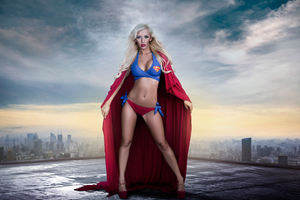Supergirl Cosplay Wallpaper