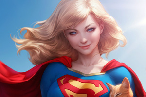 Supergirl Cute Art