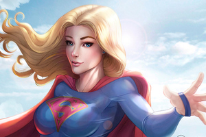 Supergirl Digital Artwork