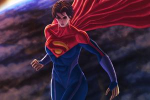 Supergirl Fantasy Creature 5k Wallpaper