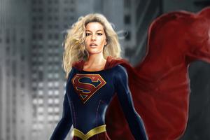 Supergirl Fight Suit 4k Wallpaper