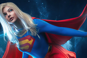 Supergirl In Space Cosplay Wallpaper