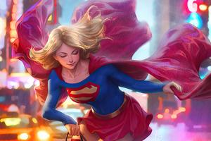 Supergirl On Walk 4k Wallpaper