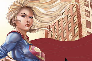 Supergirl Paint Art Wallpaper