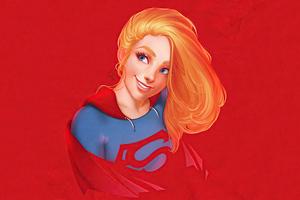 Supergirl Portrait Minimal 4k Wallpaper