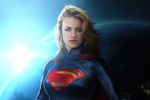 Supergirl Space 4k Wallpaper