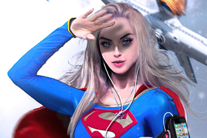 Supergirl Superhero 4k