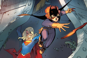 Supergirl Vs Batwoman Comic Art