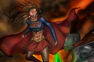 Supergirl Vs Batwoman