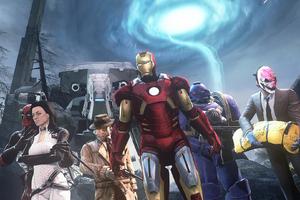 Superheroes Crossover Artwork