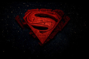 Superman 3d Logo 4k