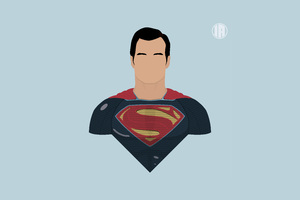 Superman 8k Minimalism Wallpaper