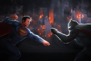 Superman And Batman 5k Artwork