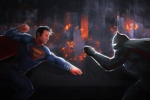 Superman And Batman 5k Artwork