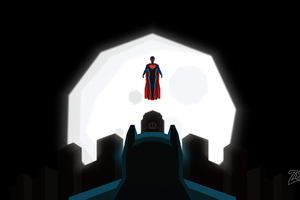 Superman And Batman Art