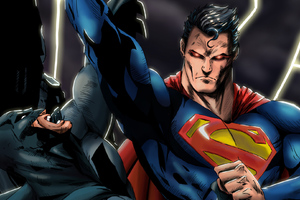 Superman And Batman HD Art