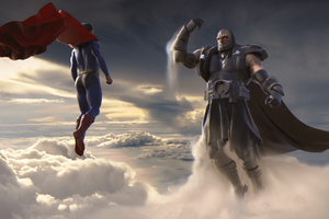 Superman And Darkseid Wallpaper