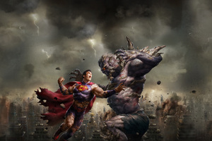 Superman And Demon Art