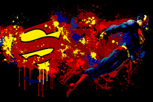Superman And Logo Artwork
