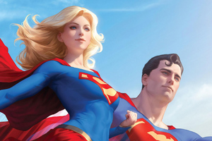 Superman And Supergirl 4k