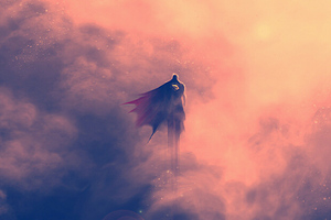 Superman Artwork Flying Wallpaper