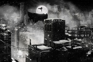 Superman Batman 4k Monochrome