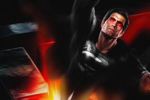 Superman Black Suit 5k Wallpaper