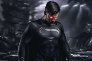 Superman Black Suit Cosplay 4k Wallpaper