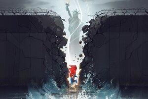 Superman Break The Wall