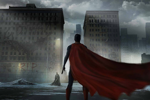 Superman Cape Flying Wallpaper