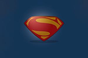 Superman Clean Logo Minimal 5k Wallpaper