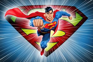 Superman Dc Comic Minimal 5k Wallpaper