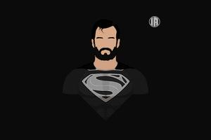 Superman Dceu Minimalism 8k