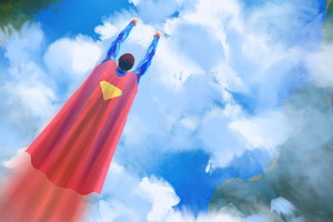 Superman Fly By Wallpaper