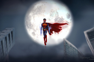 Superman Flying 4k Wallpaper