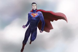 Superman Flying Art Wallpaper