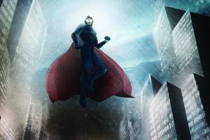 Superman Flying Arts Wallpaper